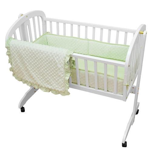 3 Piece Heavenly Soft Minky Dot Cradle Set