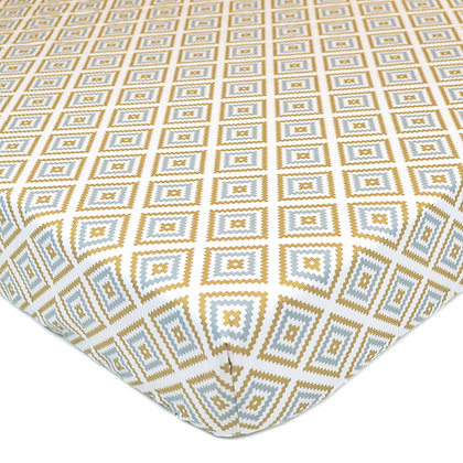 Gold Sparkle Percale Crib Sheets