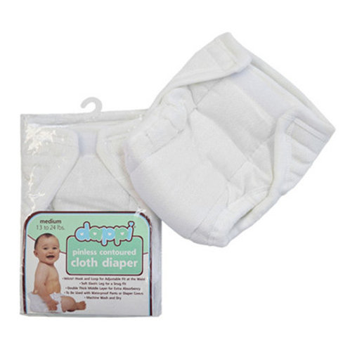 Dappi Pinless Contoured Cloth (Velcro Fit) Diapers