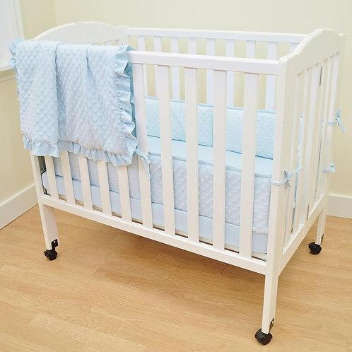 3 Piece Heavenly Soft Minky Dot Mini Crib Set