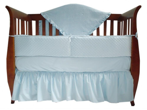 4 Piece Heavenly Soft Minky Dot Crib Set