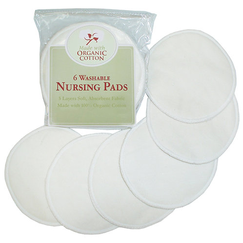 Washable Nursing Pads Made with Organic Cotton