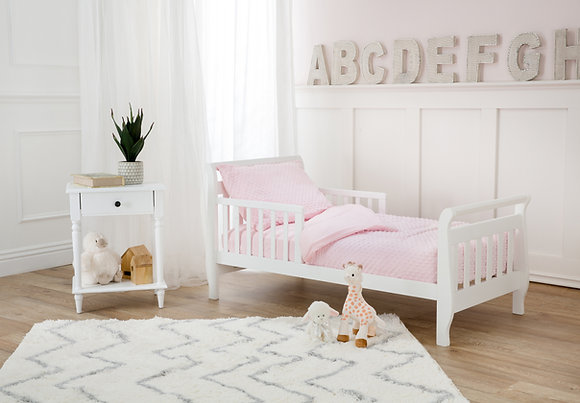 4 PC Heavenly Soft Minky Dot Toddler Bed Set