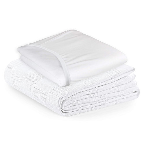 Hospital Bed Sheet and Blanket Set, 2 pieces