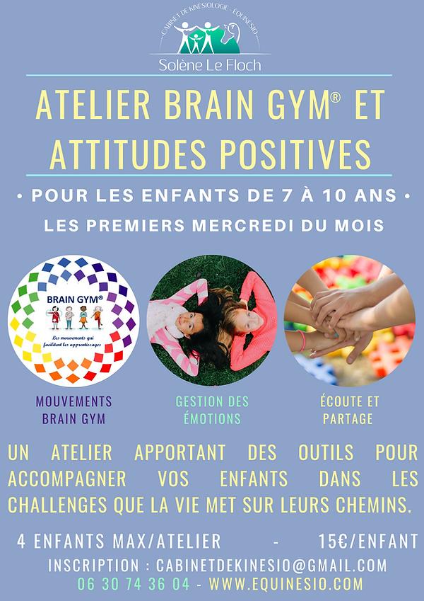 ATELIER BRAIN GYM et attitudes positives