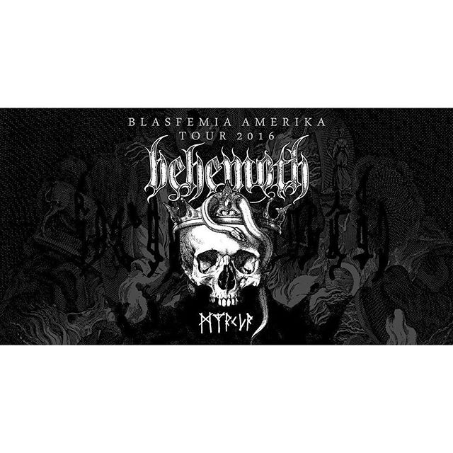 Behemoth U.S. Tour 2016