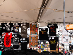 Merch table for The Offspring