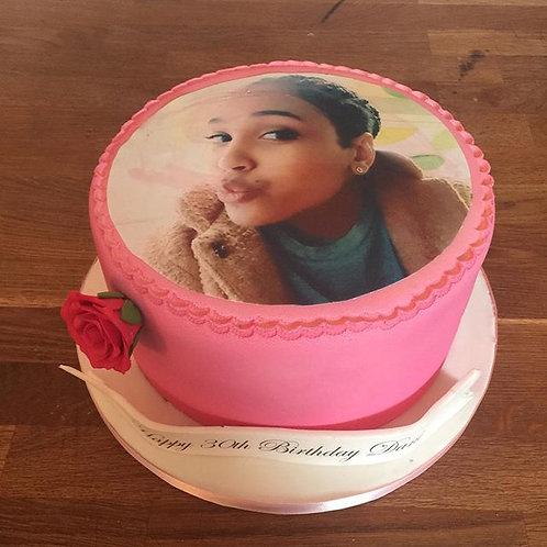 Simple Photo Cake Round