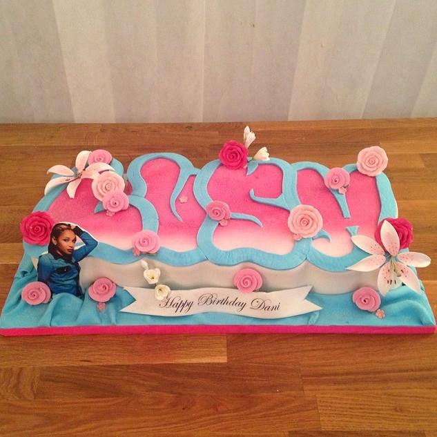 Name cake for my Sis Lush _ladeelush hap