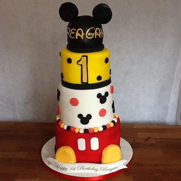 Mickey 4 tier cake #sugarcakes #sugarcak