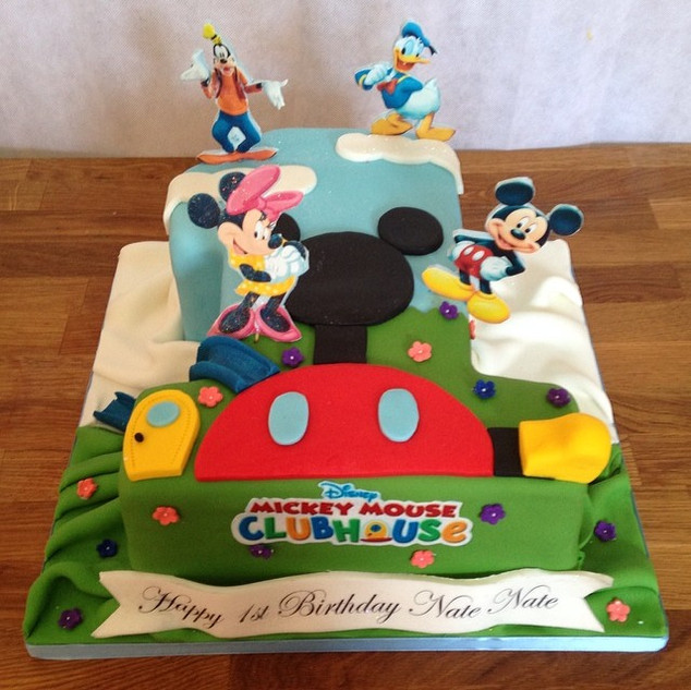 Mickey Mouse Clubhouse No1 Cake #mickeym