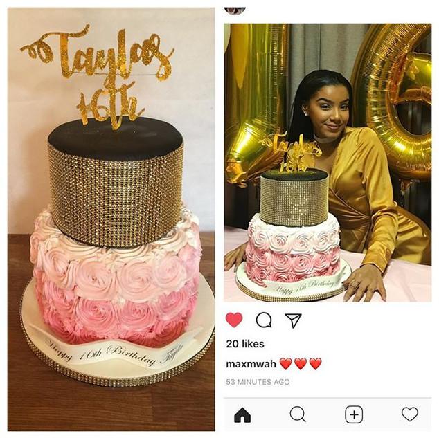 16th Birthday Cake _maxmwah #sugarcakesc