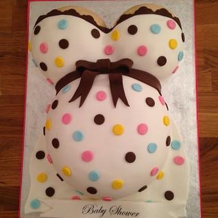 Baby Shower Bump cake #sugarcakesco #sug