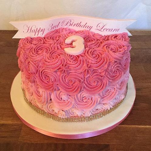 Buttercream Umbre Swirl cake Cake