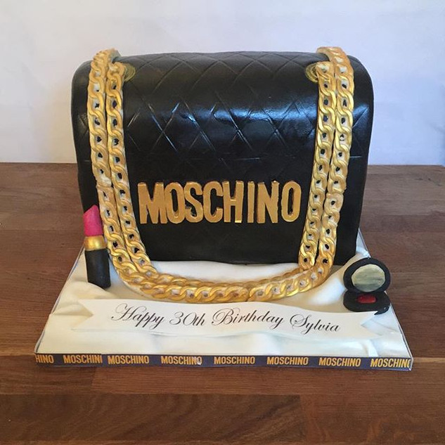 Moschino Bag Cake #sugarcakesco #sugarca