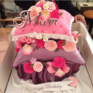 Pillow Cake #sugarcakesco #sugarcakes #cakes #cakes #mothersday #pillowcake #birthdaycake #flowercake