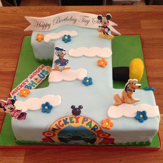 Number 1 Mickey Mouse clubhouse cake #su