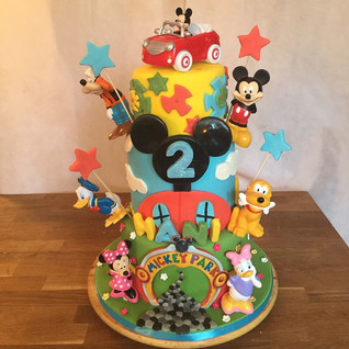 Mickey Mouse Clubhouse 3 tier #sugarcake