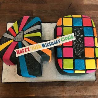 Disco 40  Cake #sugarcaksesco #sugarcake
