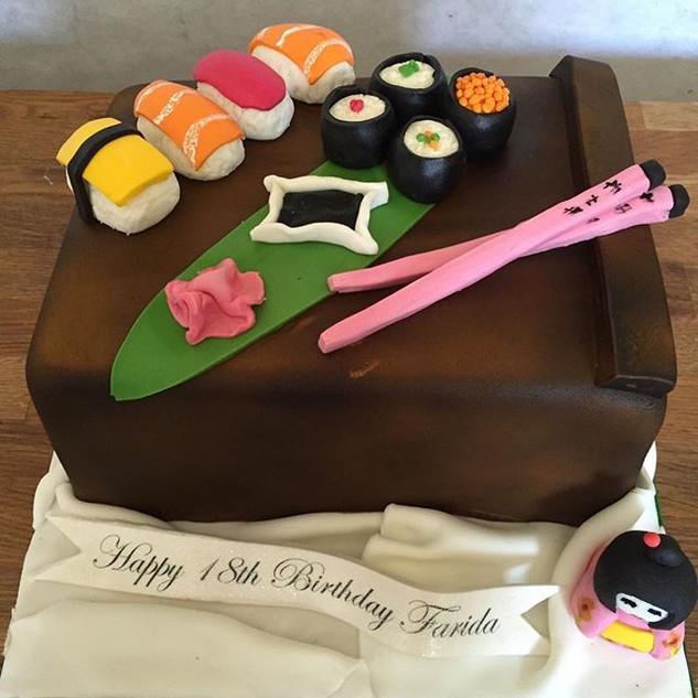 Sushi time cake #sugarcakesco #sugarcake