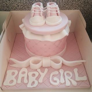 Baby girl baby shower cake #sugarcakes #