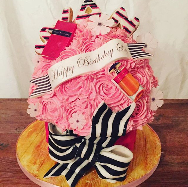 Giant Cupcake with handmade cookies for