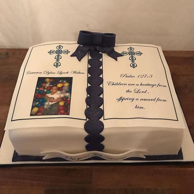 Bible Christening Cake #sugarcakesco #su