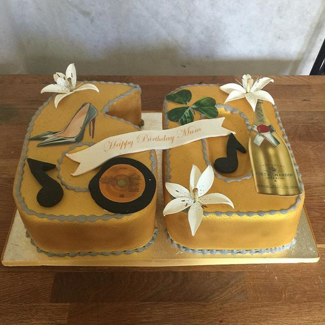 Custom 60th Cake #sugarcakesco #sugarcak