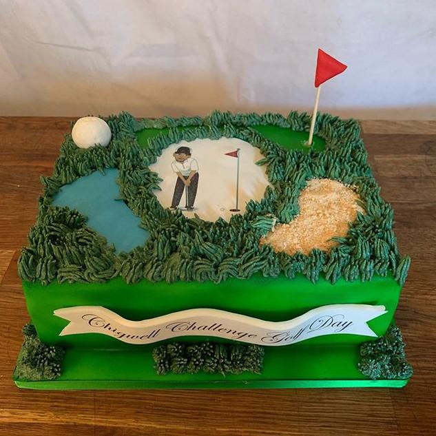 Golf Cake #sugarcakesco #sugarcakes #gol