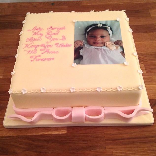 Simple Christening Cake #sugarcakesco #s