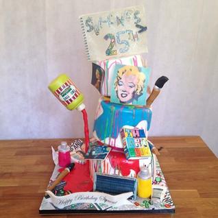 Art Theme cake #sugarcakesco #sugarcakes
