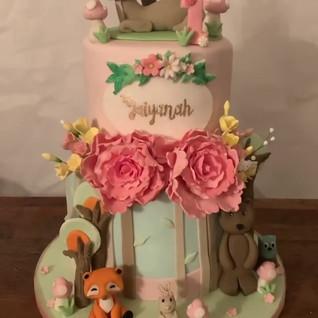 2 tier birthday Cake #sugarcakesco #suga
