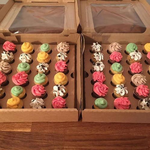 Mini Cupcakes Box of 24
