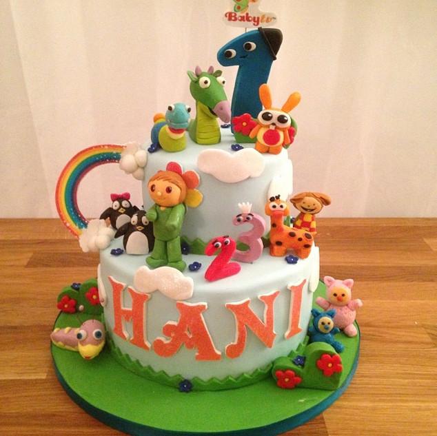 Baby Tv Cake #sugarcakesco #cakes #cake