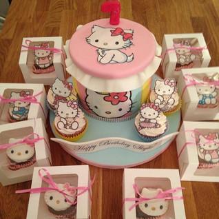 Hello Kitty Cake #sugarcakesco #sugarcak