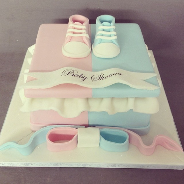 Girl & Boy gift box cake #sugarcakes #su