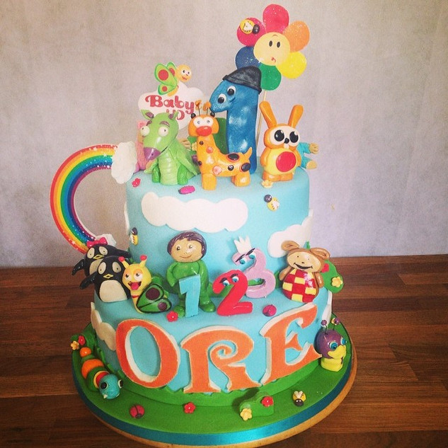 Baby Tv Cake #sugarcakesco #sugarcakes #
