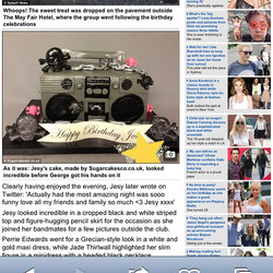My cake in Daily mail online #sugarcakes