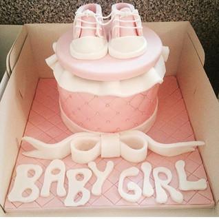 Another Baby Girl Cake #sugarcakesco #su