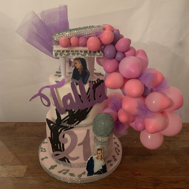 Music Piano Balloon Cake