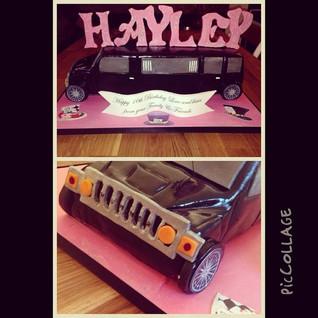 Hummer limo Cake #piccollage #sugarcakes