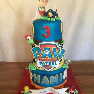 3 Tier Paw Patrol Cake #sugarcakesco #su
