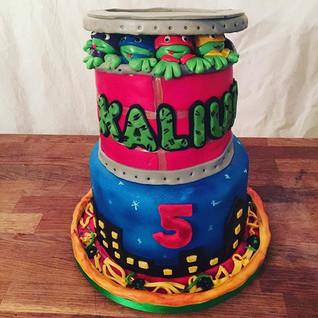 Teenage Nita turtles cake #sugarcakesco