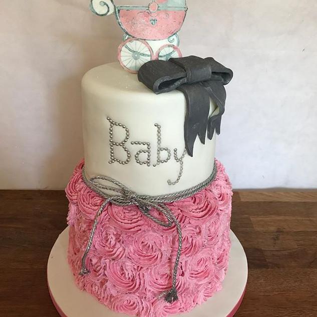 Baby Shower Cake #sugarcakesco #sugarcak