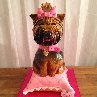 Yorkshire Terrier Cake #sugarcakesco #su