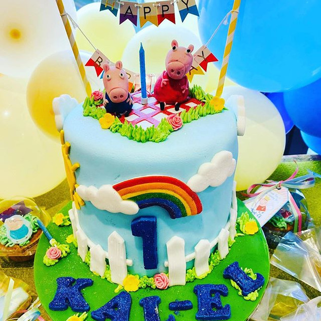 Peppa Pig Cake and Party #sugarcakesco #