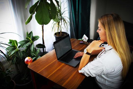 Natalia working
