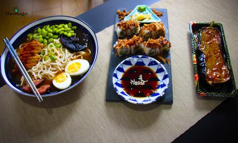 Ramen and sushi