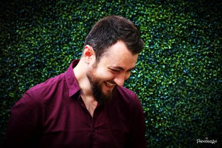 Emil outside Camden Head