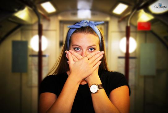 Natalia on the tube